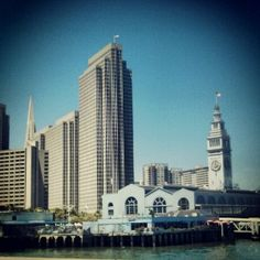 San Francisco Skyline and view on Ferry Building.  Help to fund our indiegogo campaign and get the best travel book on San Francisco. Only a few days left...