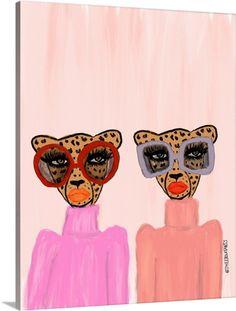 Two Cheetahs Wall Art, Canvas Prints, Framed Prints, Wall Peels Art Du Collage, Photo Wall Collage, Wall Prints, Canvas Prints, Canvas Canvas, Canvas Artwork, Small Canvas Art, No Rain, Fashion Wall Art