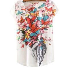 Fashion 2017 Vintage Summer T Shirt Women Clothing Tops Animal Owl Cat Print T-shirt