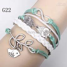 jewelry bracelet braided Leather Handmade Bracelet fashion style, mixed