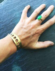 Moon phase cuff bracelet / herkimer diamonds / moon godess / handmade taw crystal jewerly
