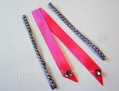 Красива рожево-бузкова шпилька зі стрічок, канзаші. Майстер-клас   podelki-doma.ru Beauty, Beleza