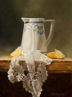 Hand Work by Deborah Elmquist Oil ~ 16 x 12