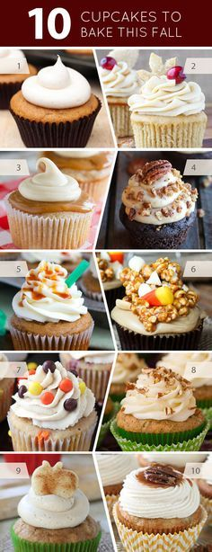 10 Delicious Cupcakes You Should Bake This Fall | on TheCakeBlog.com
