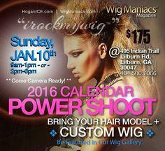 Hair & Wig Beauty Calendar Power Shoot Sunday, JAN. 10th -- Hair Gallery Wig Stylist >> WigManiacs.com