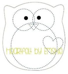 Image gallery for : felt template owl More Más Owl Templates, Applique Templates, Applique Patterns, Owl Applique, Printable Templates, Felt Owls, Felt Birds, Felt Animals, Felt Crafts Patterns