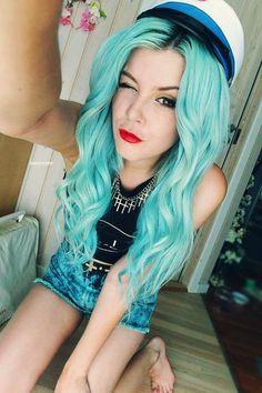 #turquoisehair #lightbluehair #aquahair