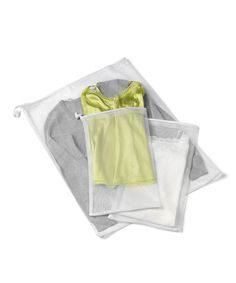 This White Mesh Laundry Bags - Set of Three is perfect! #zulilyfinds