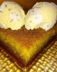 Greek Sweets, Greek Desserts, Lemon Coconut, Food Network Recipes, French Toast, Deserts, Food And Drink, Ice Cream, Pasta