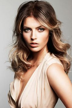 Light Brown Ombre Hairstyle with Waves, I will not stop until i have this hair!