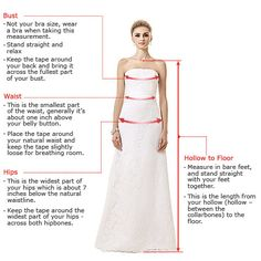 How to Measure Yourself for Dresses Online At LuckyGowns.com