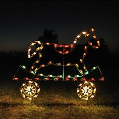 Train Car with Rocking Horse LED Light Display 5 ft W-Train Car Yard Silhouette perfect for business or residential display. Flat train car with rocking horse. Professionally designed and built by hand in the U.S.A., using only the highest quality materials.Can also be displayed on a solid flat surface with the use of floor stands. http://www.christmasnightinc.com/c160/c302/Train-Car-with-Rocking-Horse-LED-Light-Display-5-ft-W-p1521.html# $399.00