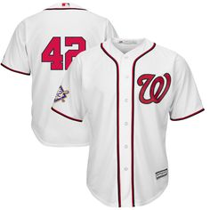 83a1a0de6 Washington Nationals Majestic 2019 Jackie Robinson Day Official Cool Base  Jersey – White