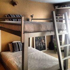 Custom built queen over queen bunk beds by Francis Lofts