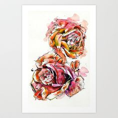 I just put a new print up on Society6! Rose Blooms - $17.68