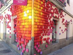 """SKYLINE DINER, Madrid, Spain, """"Pixel Life"""", for Decoraccion, creative by Conica Studio, pinned by Ton van der Veer"""