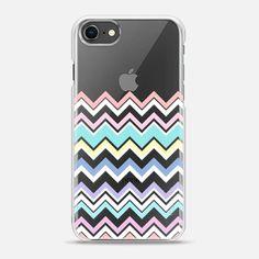 Multicolor Pastel Chevron Transparent - スナップケース