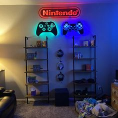 LED Lighted Playstation Controller Wall Art, Video Game Art, Game Room Decor Sign, PS1 PSX Ps2 Ps3 Ps4, Rgb Color Changing Led w/ Remote