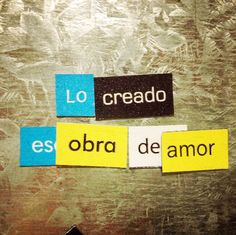 The created is a work of love