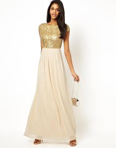 Little Mistress | Little Mistress Maxi Dress with Sequin Bodice at ASOS