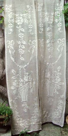 1000 id es sur rideaux en crochet sur pinterest filet. Black Bedroom Furniture Sets. Home Design Ideas