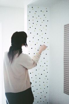 DIY Confetti Decal with Washi Tape
