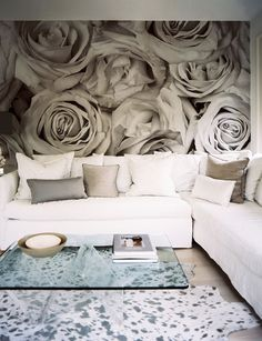 love that picture on the wall..it looks like 3D roses!