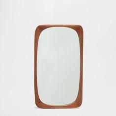 Natural-coloured irregular rectangular mirror - CUSHIONS - DECORATION | Zara Home United States of America