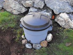 DIY Backyard Organic Waste Digester...Good way to rid the yard of dog waste.
