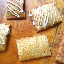 King Arthur Flour - Tasty Toaster Tarts... a homemade brown sugar cinnamon 'pop tart' with tips for other fillings..good for on-the-go (made the day/night before and warmed up when hitting the road)...