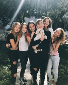 Maddie and Kenzie with friends