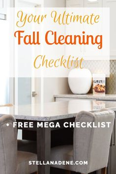 Tips, mega checklist, ideas, hacks, and products for fall cleaning. You absolutely need a fall cleaning challenge and list to get your house and home ready for fall! StellaNadene.com