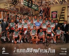 7-eleven team advert Cycling Art, Cycling Jerseys, 7 Eleven, Vintage Cycles, Cyclists, Advertising Poster, Triathlon, Wolf, Art Print