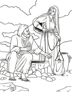 the samaritan woman coloring pages