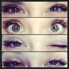 Really pretty natural makeup and eye color