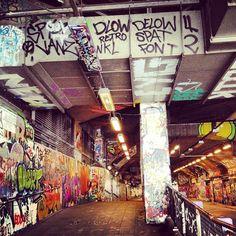 Leake Street Graffiti Tunnel in London, Greater London