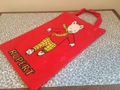 A personal favorite from my Etsy shop https://www.etsy.com/uk/listing/470309684/rupert-the-bear-red-bag