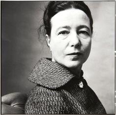 Simone de Beauvoir, Paris, 1957 -by Irving Penn