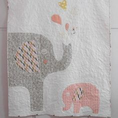 Mom and baby Elephant Baby QuiltElephant Nursery DecorCustom   Etsy Elephant Nursery Decor, Nursery Bedding, Nursery Themes, Mom And Baby Elephant, Expecting Mom Gifts, Baby Boy Or Girl, Cotton Bedding, Baby Quilts, Gifts For Mom