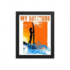 My Solitude, Surfer Girl, Ocean & Beach Life Framed Poster Skateboard Outfits, Skateboard Pictures, Skateboard Tattoo, Skate Girl, Skater Style, Surf Girls, Ocean Beach, Solitude, Frame