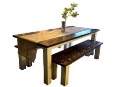 """classic"" rustic farm style table. Beautiful and simple! Contact us for a free quote on your perfert table! perryloop.com"
