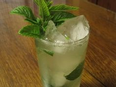 An inspired cross between a gin-gin and a Moscow mule combines mint, gin, and ginger beer.