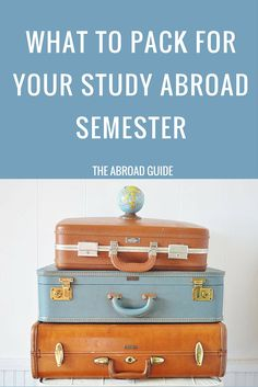 Here's a list of what  you should pack for your study abroad semester, including what you DON'T need to bring with you when you study abroad. Scroll to the bottom of the post for a free printable study abroad packing list.