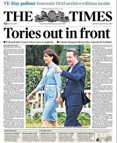 Front Page: The Times, May 8 2015