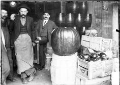A large pumpkin and some great mustaches, Chicago, November 13, 1902. Photograph by Chicago Daily News, Inc. DN-0000523 #Halloween #Chicago #Pumpkin #Movember