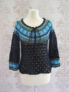 Blusa de Crochet vintage, para inspiración!