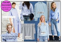 http://www.morwennauk.net/fuss-free-frills-and-knots/ Springs FUSS FREE #FRILLS and knotted shirts from @M&S, @Ganni and @Zara don't need  to be girly…….read more http://www.morwennauk.net/
