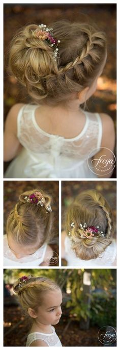 uncategorized communion hairstyles for daily hairstyle best daaeaeefcedbac … - Wedding Hairstyles Flower Girl Updo, Flower Girl Hairstyles, Little Girl Hairstyles, Flower Girls, Teenage Hairstyles Girls, Kids Hairstyles For Wedding, Braid Flower, Wedding Hairdos, Toddler Hairstyles