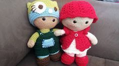 2000 Free Amigurumi Patterns: Weebee Big Head Mix and Match Baby Doll