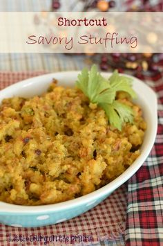 Easy and delicious savory stuffing for the Holidays! Throw away the wrappers and nobody will know you used some shortcuts! | Little Dairy on the Prairie